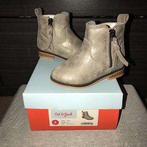 Toddler Metallic Ankle Boots